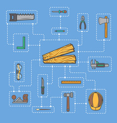 Carpentry professional service infographic concept vector
