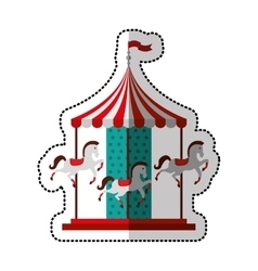 Carrousel cute isolated icon vector