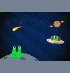 Cartoon space background vector image