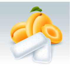Chewing gum with apricot flavor vector