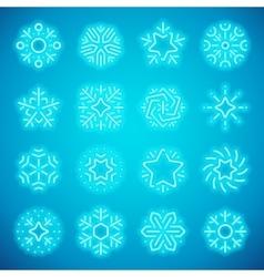 Christmas Neon Snowflakes vector image