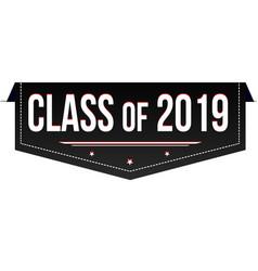 class 2019 banner design vector image