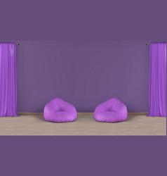 Comfortable lounge area realistic mockup vector
