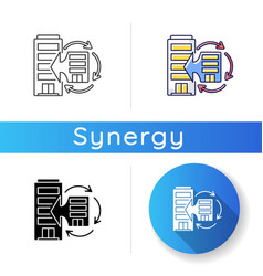 Corporate synergy icon vector