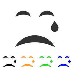 cry smile icon vector image