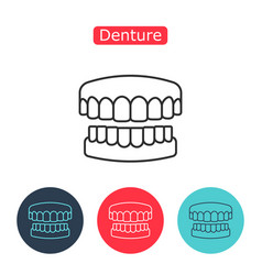 Dental prosthesis tooth orthopedics sign vector