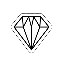 diamond flat isolated icon vector image