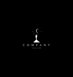 Dreamer abstract white logo design image vector