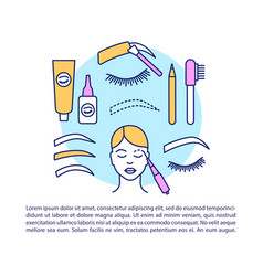 Eyebrow tattoo article page template eye brow vector