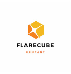 Flare cube light logo icon download vector