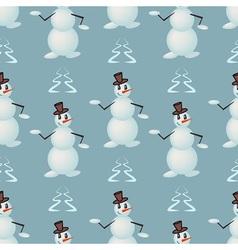 Funny dancing snowmen vector