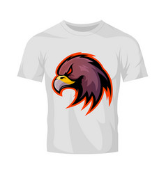 furious eagle head sport logo concept vector image