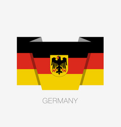 germany flag with coat of arms flat icon waving vector image
