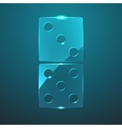 glass domino icon vector image vector image