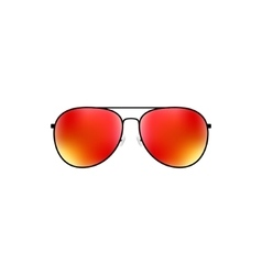 Glossy aviator sunglasses design vector