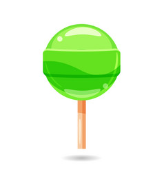 Glossy sweet lollipop candy isolated vector