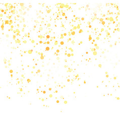 Gold confetti pattern isolated on white background vector
