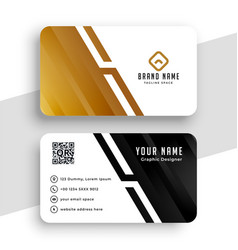 golden business card in geometric shape style vector image