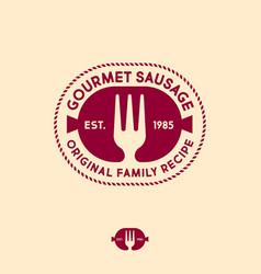 gourmet sausages logo original products butchery vector image