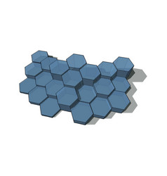 hexagons technology and communication background vector image