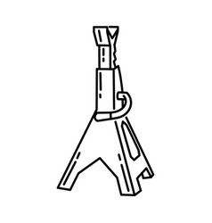 Jack stands icon doodle hand drawn or outline vector