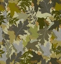 Khaki background with autumn leaves 4eps vector