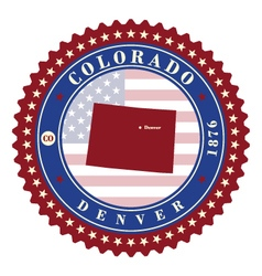Label sticker cards of State Colorado USA vector