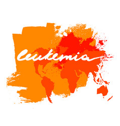 leukemia lettering image vector image