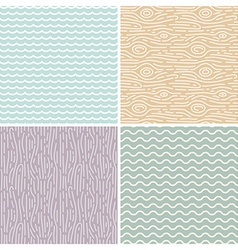 linear seamless patterns vector image