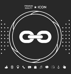 link chain icon graphic elements for your vector image