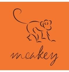logo of monkey vector image