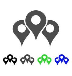 Map locations icon vector