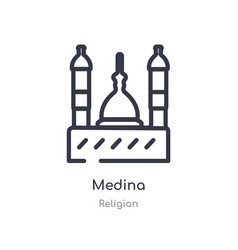 Medina outline icon isolated line from religion vector
