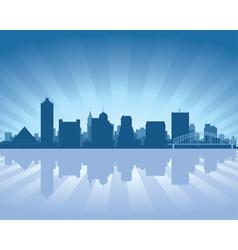 memphis tennessee skyline vector image
