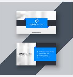 Modern blue geometric business card design vector
