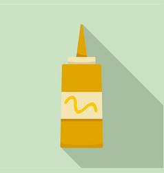 mustard plastic bottle icon flat style vector image