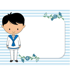 My first communion child card vector