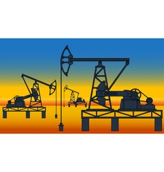 Oil pumpjack derricks vector
