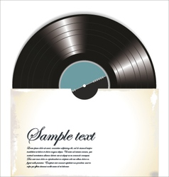 Old vinyl record in a paper case vector