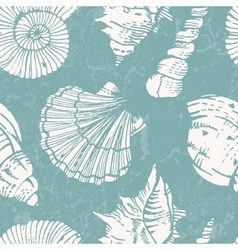 Pattern with sea shells vector