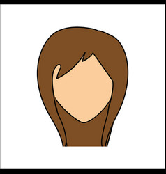people avatar face woman icon vector image