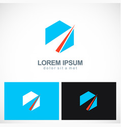 polygon shape abstract company logo vector image