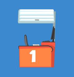 red cash register terminal number one vector image