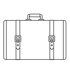 retro suitcase icon outline style vector image