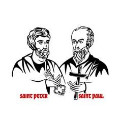 Saints apostles peter and paul vector