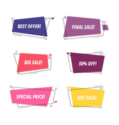sale tags sale banners template isolated vector image