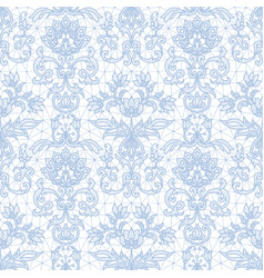 Seamless blue lace vector