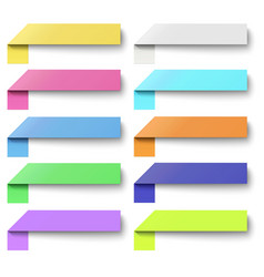 set color oblong sticker banners isolated vector image