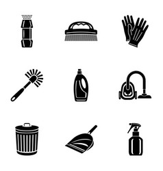 sweep icons set simple style vector image