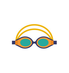 Swimming glasses sport goggles icon vector